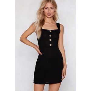 🆕 NWT Nasty Gal - Button the Prowl Mini Dress
